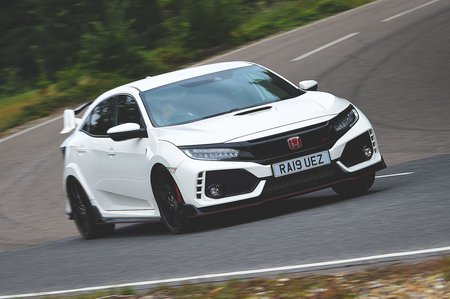 Honda Civic Type R 2019 RHD front tracking