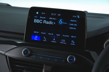 Ford Focus ST 2019 RHD infotainment