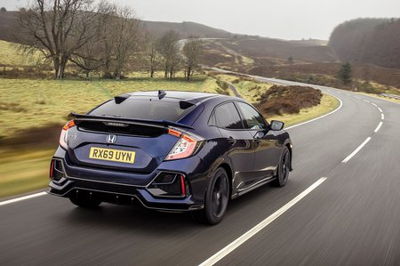 Honda Civic Hatchback 2019 rear tracking RHD