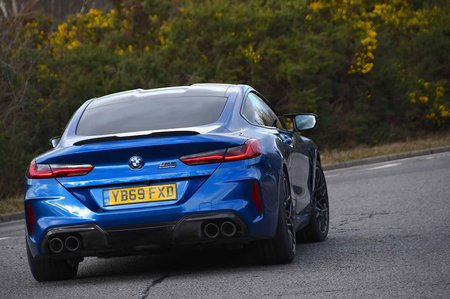BMW M8 Competition 2020 RHD rear right tracking