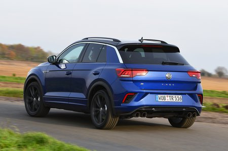 Volkswagen T-Roc R rear - blue with German plates