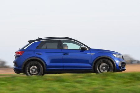 Volkswagen T-Roc R side - blue with German plates