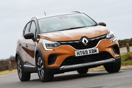 2020 Renault Captur front cornering - orange