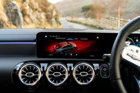 Mercedes CLA 35 AMG 2020 RHD infotainment