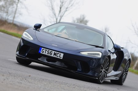 McLaren GT 2020 RHD front left tracking