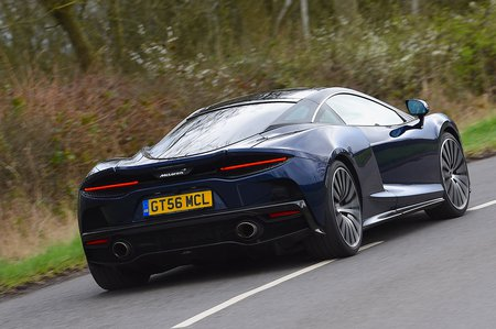 McLaren GT 2020 RHD rear right tracking