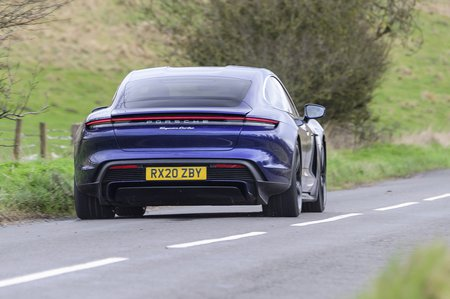 Porsche Taycan 2020 RHD rear tracking