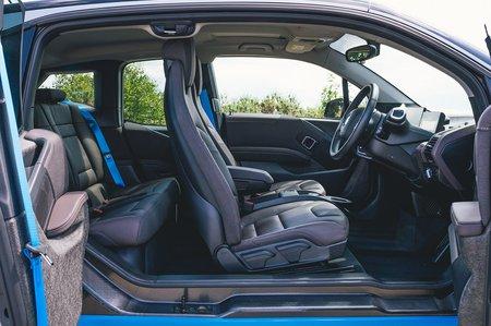 BMW i3 2018 doors open interior view