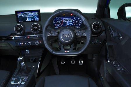 Audi Q2 dashboard - blue 19-plate car