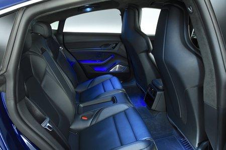 2020 Porsche Taycan rear seats