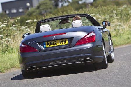 Mercedes SL rear corner