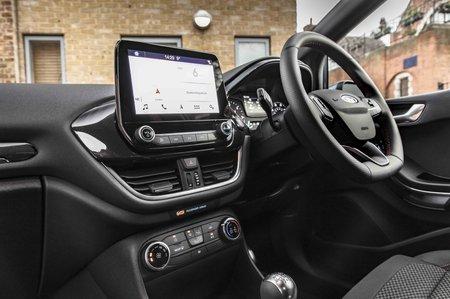 Ford Fiesta Van interior with screen