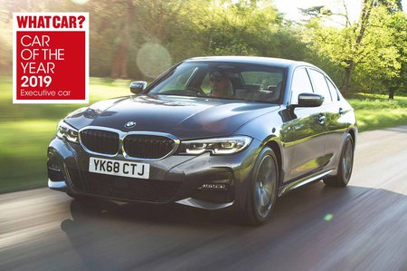 BMW 3 Series 2019 RHD front tracking shot awards