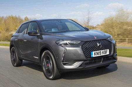 DS 3 Crossback 2019 UK right front tracking shot