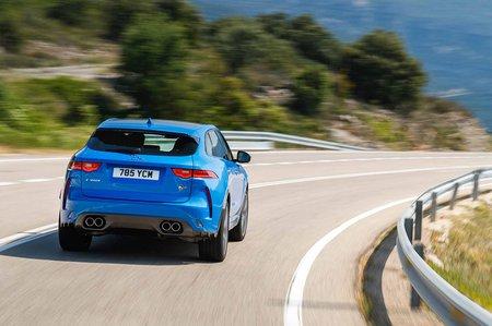 Jaguar F-Pace SVR 2019 launch rear tracking shot