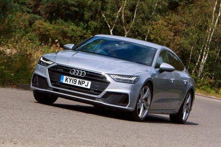 Audi A7 2019 front left cornering