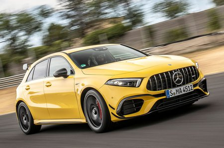 Mercedes-AMG A45 2019 front right tracking