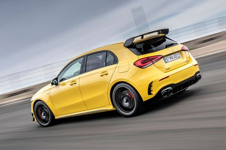 Mercedes-AMG A45 2019 rear left tracking
