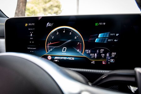 Mercedes-AMG A45 2019 LHD dashboard detail