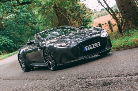 Aston Martin DBS Volante 2019 front cornering
