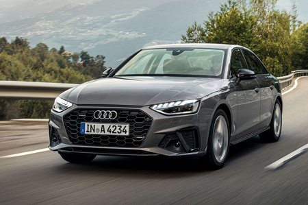Audi A4 2019 front left cornering shot