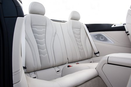BMW 8 Series Convertible 2019 RHD rear seats