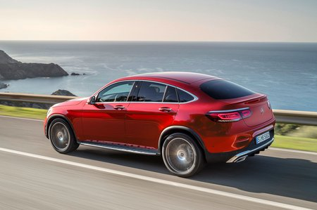 Mercedes GLC Coupe 2019 facelift rear tracking