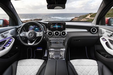 Mercedes GLC Coupe 2019 facelift RHD dashboard