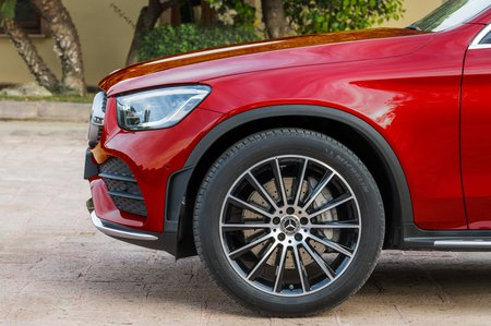 Mercedes GLC Coupe 2019 facelift front wheel detail