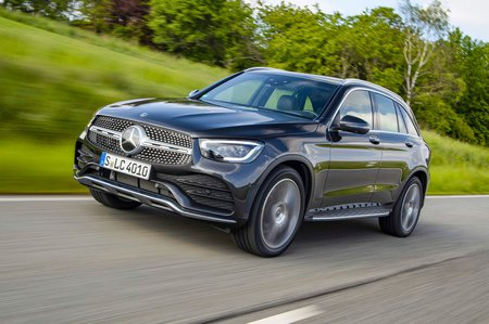 Mercedes GLC 2019 facelift front tracking