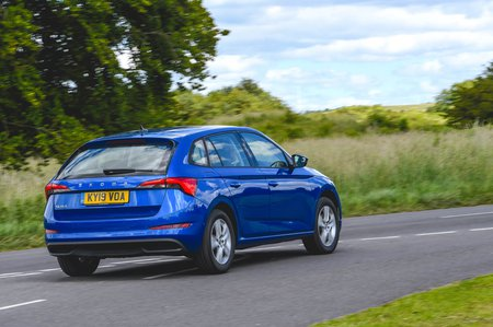 Skoda Scala 2019 RHD rear cornering shot