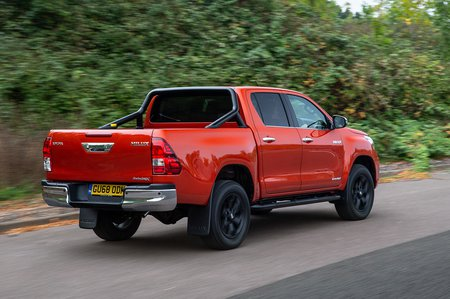 Toyota Hilux 2018 rear right tracking shot