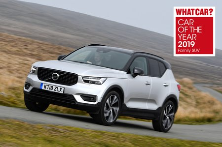 Volvo XC40 2019 front cornering pic awards