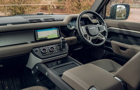 Land Rover Defender 2020 RHD dashboard