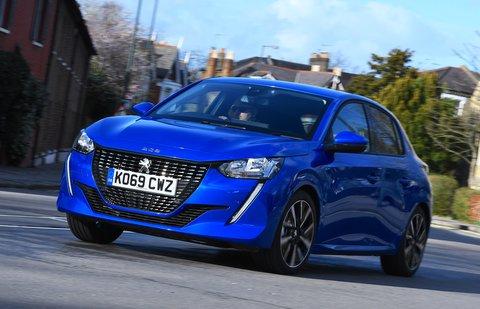 Peugeot 208 front - blue 69-plate car