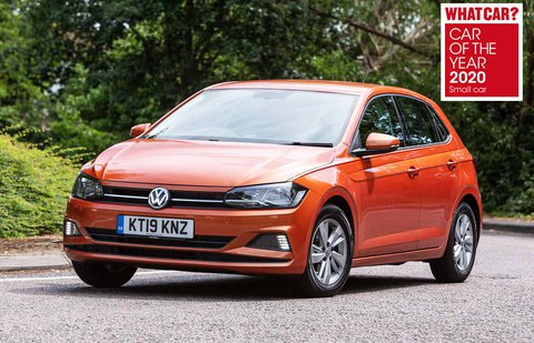 Volkswagen Polo front cornering - awards logo