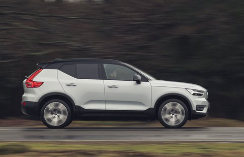 Volvo XC40 Recharge Pure Electric 2021 right tracking