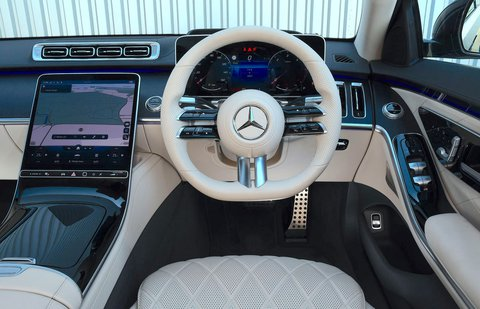 Mercedes S-Class 2021 interior dashboard