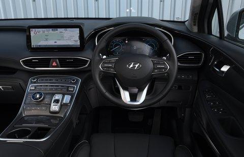Hyundai Santa Fe 2021 interior dashboard