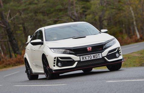 Honda Civic Type R 2021 front cornering