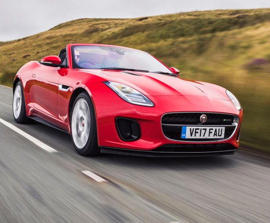 Jaguar F Type Convertible. Review Continues Below.