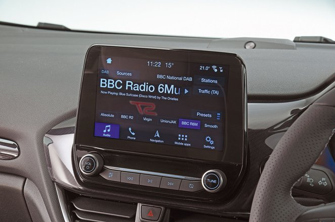 Ford Fiesta ST 2021 infotainment