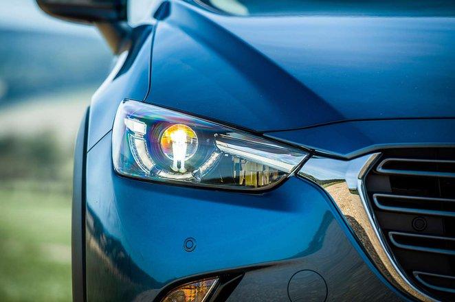 Mazda CX-3 headlight shot
