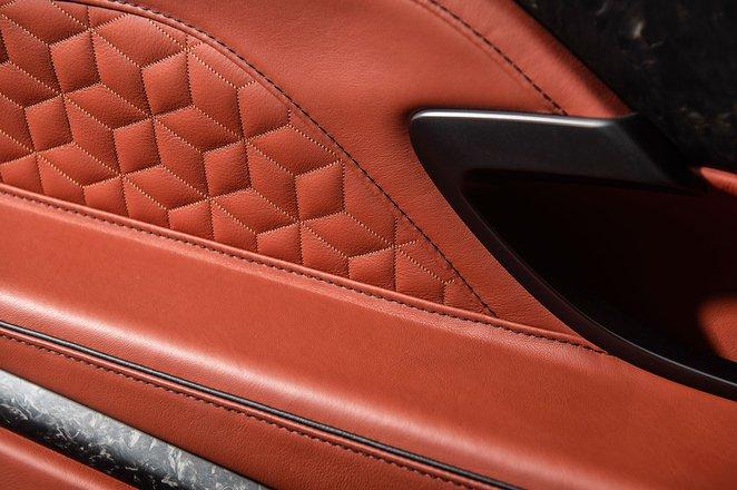 Aston Martin DBS Superleggera leather work