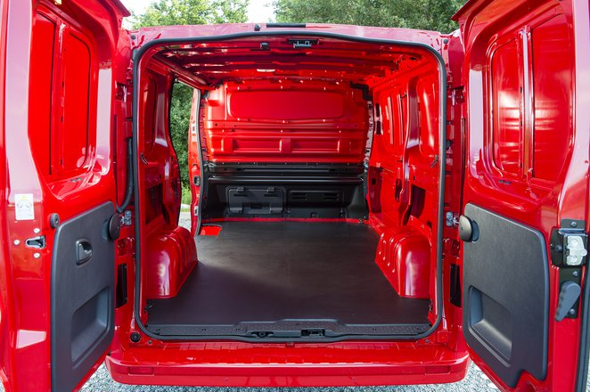 Vauxhall Vivaro cargo area
