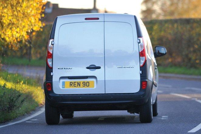 Renault Kangoo driving from rear photo