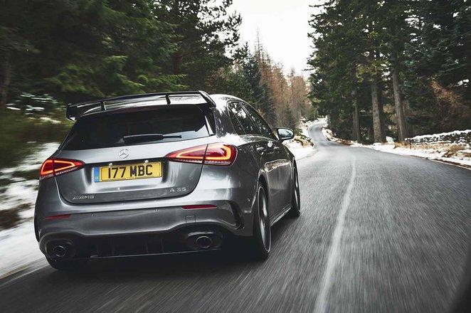 Mercedes-AMG A35 2019 rear tracking shot