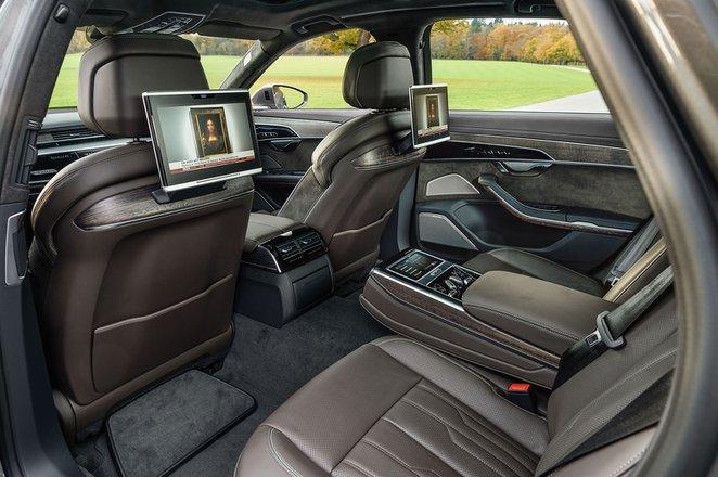 Audi A8 2019 rear seats