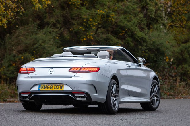 Mercedes-Benz S Class Cabriolet 2019 rear right tracking shot