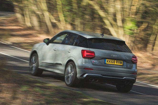 Audi SQ2 2019 rear left tracking shot
